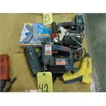 LOT CONSISTING OF: jig saw, heat gun, staple gun, glue guns & screwdriver