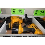 LOT/ DEWALT CORDLESS DRILL WITH BATTERIES AND CHARGER