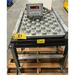 "18"" X 24"" SCALE BASE C/W STAND & B-TEK MODEL TB84 DIGITAL READ-OUT WEIGHING INDICATOR, NMAX 10,"