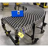 "BEST FLEX 30"" X 24' LONG EXPANDABLE PORTABLE ROLLER TOP CONVEYOR, ON CASTERS"