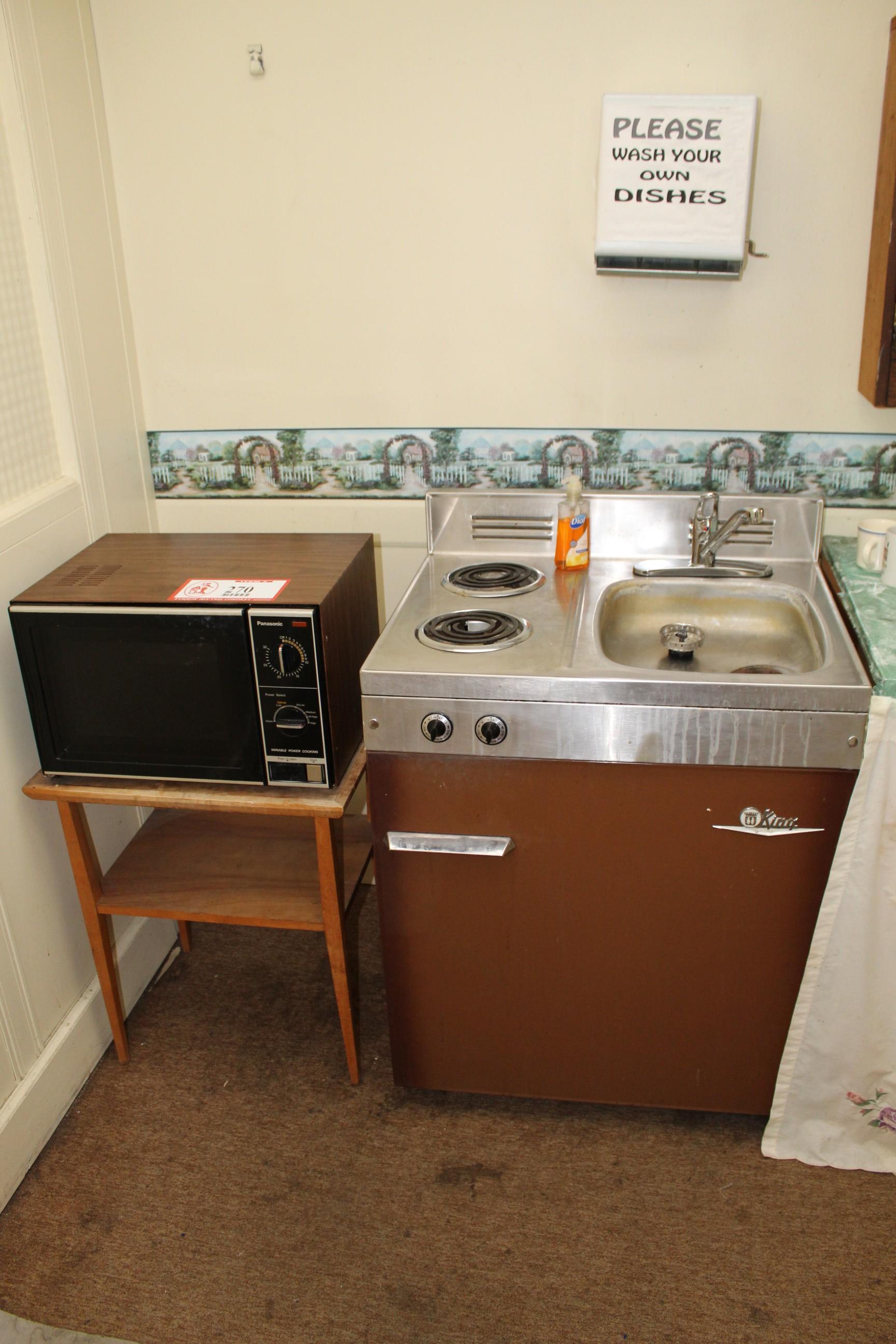Lot 270 - Panasonic Microwave Oven & a King Refrigerator/Stove/Sink Combo