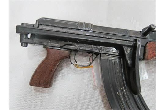 A deactivated Czechoslovakian Vz58 assault rifle