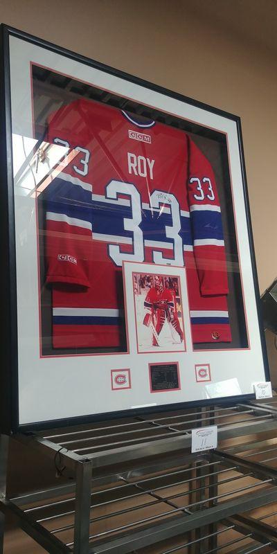 Lot 10 - Signed Patrick Roy Jersey