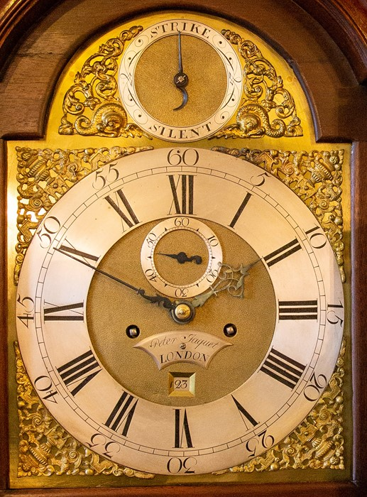 Peter Jacquet, London, a George III mahogany eight day longcase clock, circa 1770, pagoda pediment - Image 2 of 2