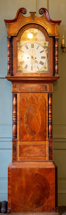 An early 19th Century eight day mahogany and oak longcase clock, by Smith and Sons, Walton-on-Trent,