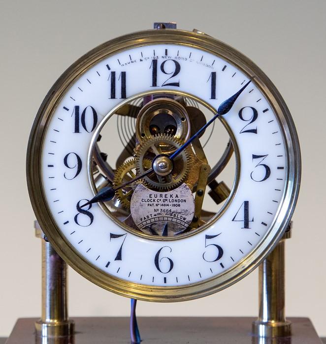 An early 20th Century Century Eureka electro-magnetic bracket clock, glazed case, Arabic numeral - Image 2 of 5