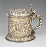 A rare Halle silver tankardSilver; with remains of gilding. Silver tankard with remnants of former