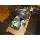 BECKER (2002) VTLF 250 SK VACUUM PUMP WITH TOSHIBA ELECTRIC MOTOR, 950/1150RPM, 250/300 M3 P/HOUR