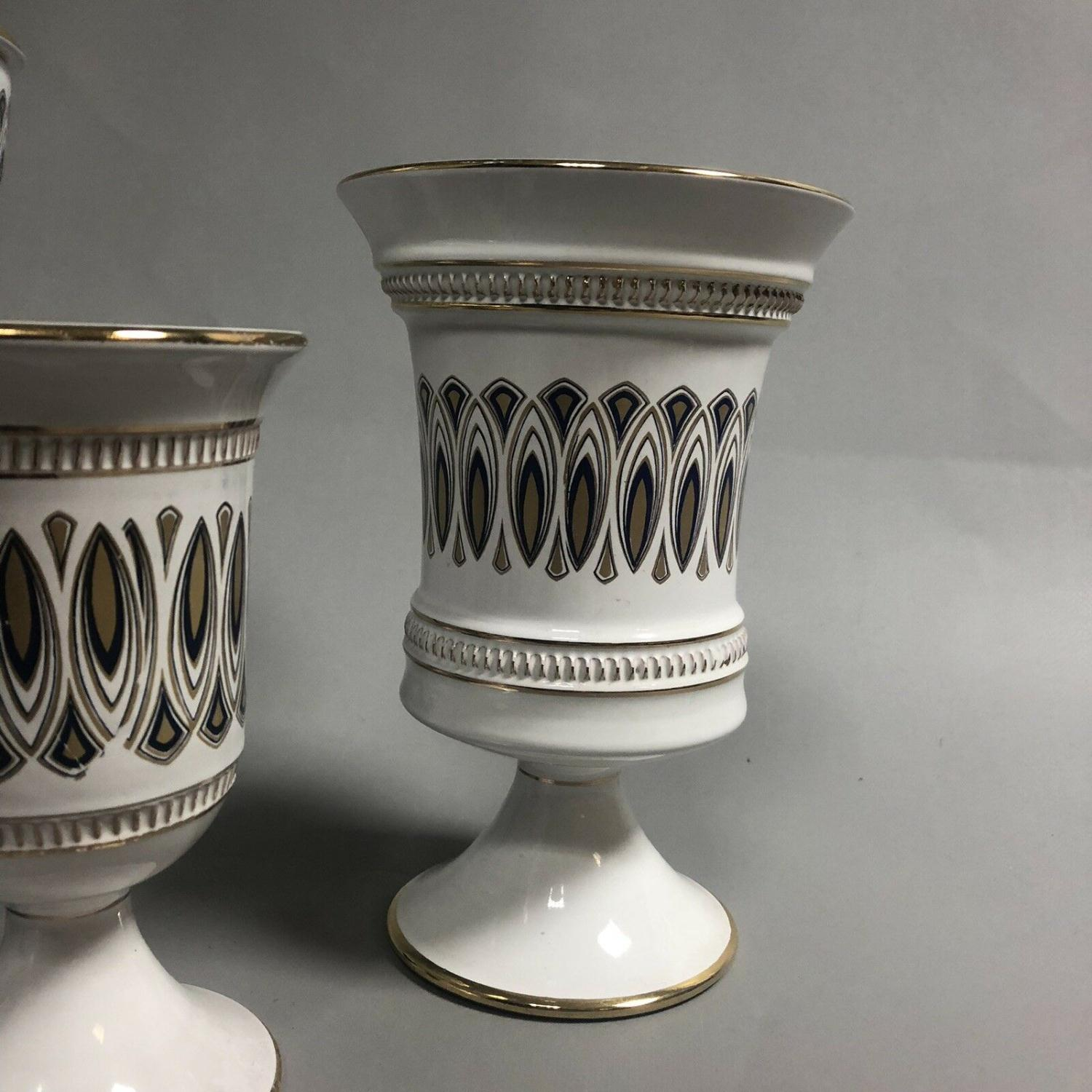 Lot 36 - A group of mid century retro Italian ceramics by Il Verrocchio, Florence - Vases
