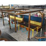 1 x Wooden Garden Pergola With Single Seating Bench - Size H228 x W183 x L350 Ref: RB127 - CL558 -