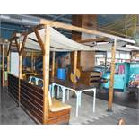 1 x Wooden Garden Pergola With Single Seating Bench - Size H228 x W360 x L350 Ref: RB126 - CL558 -