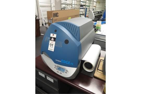 Gerber EDGE FX mdl  GSPFTP3 Thermal Printer s/n F010804001