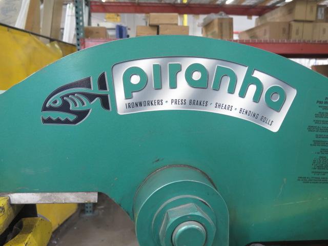 """2010 Piranha P-90 90-Ton Iron Worker s/m P90-2012 w/ 1 1/8"""" thru 1"""" Punch Cap., 1"""" x 12"""" – ¾"""" x - Image 2 of 16"""