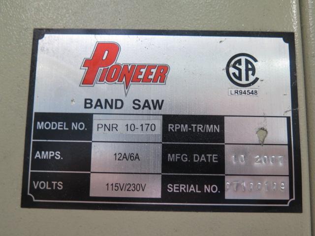 "Lot 35 - 2007 Pioneer mdl. PNR10-170 16"" Vertical Band Saw s/n 07100109 w/ 17"" x 17"" Table"