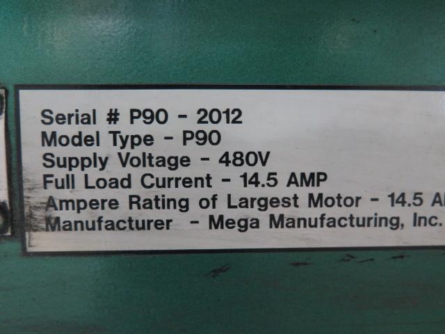 """2010 Piranha P-90 90-Ton Iron Worker s/m P90-2012 w/ 1 1/8"""" thru 1"""" Punch Cap., 1"""" x 12"""" – ¾"""" x - Image 16 of 16"""
