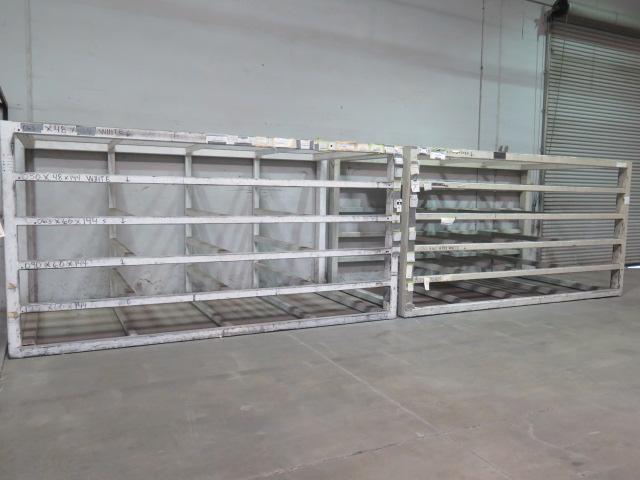 Lot 19 - Horizontal Sheet Stock Racks (2)
