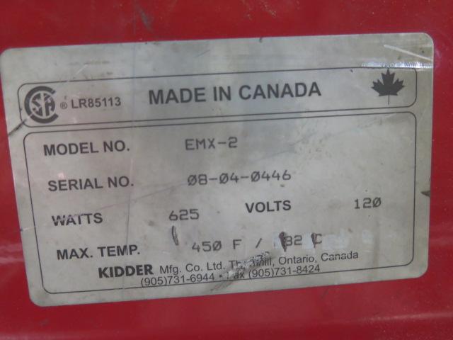 """Lot 2 - Kidder mdl. EMX-2 50"""" Plastics Strip Heater s/n 08-04-0446"""