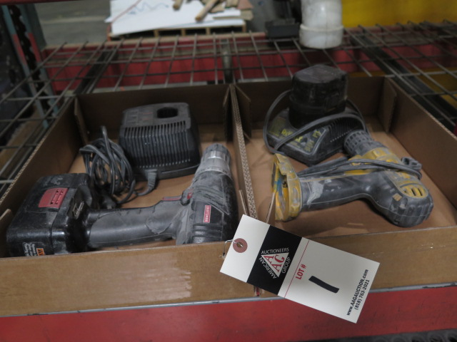 Lot 1 - DeWalt and Craftsman Cordless Drills
