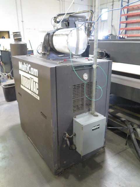 Lot 16 - MiltiCam 5000 Series CNC Router s/n 5-305-12-PF05463 w/ MultiCam HMI 20 Pendant Controls, 12-Station