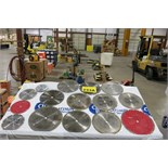 LOT OF ASSORTED CIRCULAR CUTTING BLADES