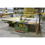 REMA, DMMA-40, TABLE SAW, S/N 8865 WITH DUST COLLECTOR (RIGGING - $125)
