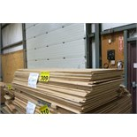 "LOT OF 40 SHEETS (APPROX.) OF 30"" X 73"" X 3/8"", PLYWOOD"
