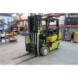 YALE, GLC080VXNGSE088, 7,250 LBS. (8,000 LBS), 3 STAGE, LPG FORKLIFT SIDESHIFT & FORK POSITIONER