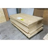"LOT OF 58 SHEETS (APPROX.) OF 44"" X 75"" X 3/8"", PLYWOOD"