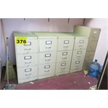 LOT OF VERTICAL FILING CABINETS
