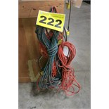 LOT OF 100' EXTENSION CORDS