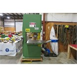 WADKIN BURSGREEN, C7, VERTICAL BAND SAW WITH DUST COLLECTOR (RIGGING - $125)