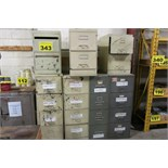 LOT OF FILING CABINETS WITH CONTENTS