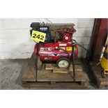 AIR COMPRESSOR, 5 HP, TANK MOUNTED, PISTON TYPE, GAS POWERED, COMPRESSOR