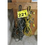 LOT OF 50' EXTENSION CORDS