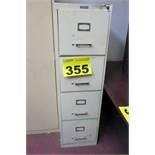 FOUR DRAWER, VERTICAL, FILING CABINET