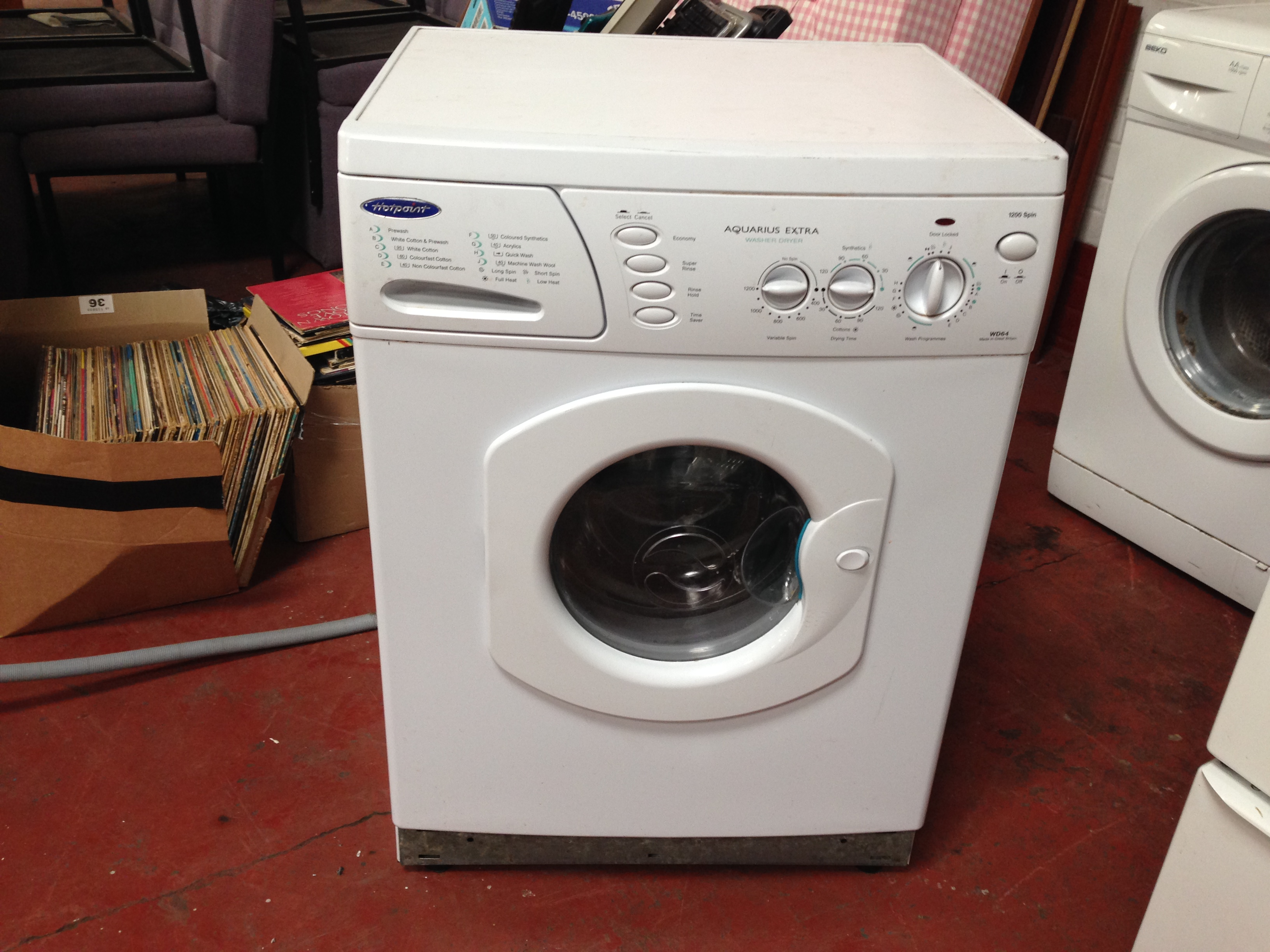 Lot 1111 - HOTPOINT AQUARIUS EXTRA WD64 WASHER/DRYER