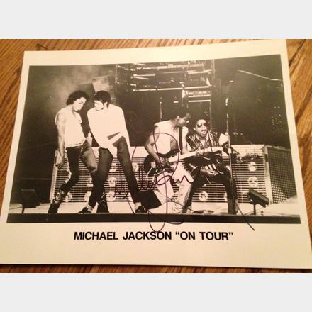 Lot 55 - Signed Michael Jackson on tour original photo