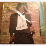 Lot 64 - Signed Michael Jackson Original 'Of the wall' Album 12'