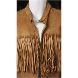 Lot 35 - The Beatles / Paul McCartney: worn and owned brown fringed leather jacket.