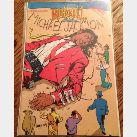 Lot 47 - 1991 Michael Jackson's signed rock and roll comic book