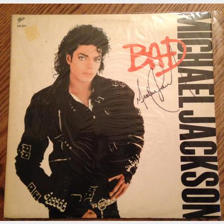 Lot 61 - Signed Michael Jackson Original 'Bad' Album 12'