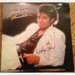 Lot 62 - Signed Michael Jackson Original 'Thriller' Album 12'