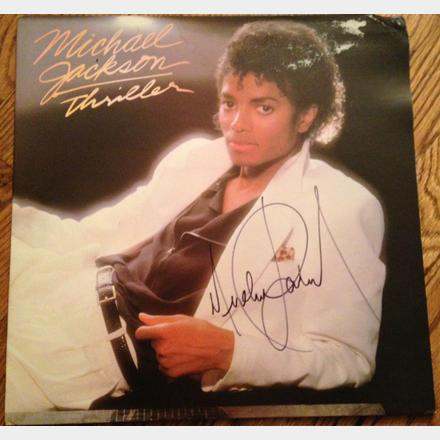 Lot 62 - Signed Michael Jackson Original 'Thriller' Album 12'