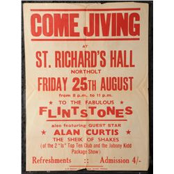 Lot 90 - Come Jiving to the Fabulous Flintstones' poster also featuring Alan Curtis the 'Sheik of the Shakes'