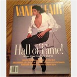 Lot 51 - Signed Michael Jackson Dec 1989, Vanity Fair hall of fame magazine.