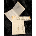 Lot 14 - John Lennon original sketches for Yoko's first book title 'Greatfruit'