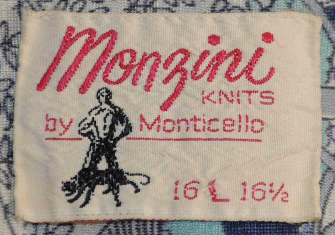 Elvis Presley: previously personally owned and worn patterned shirt, Monzini knit by Monticello, - Image 3 of 3