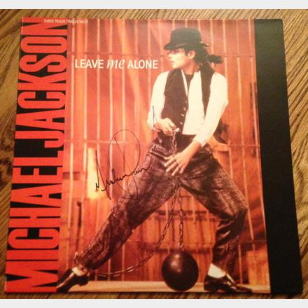 Lot 63 - Signed Michael Jackson 'Leave Me Alone' Single