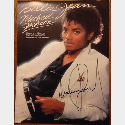Lot 66 - Signed Michael Jackson Original 'Billie Jean' Album and sheet music