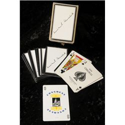 Lot 92 - Sir Winston Churchill personally owned cigar and pack of playing cards A boxed deck of 52 playing